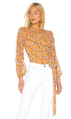 Pintuck Wrap Top NICHOLAS $102