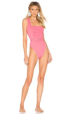 Ruched Panel One Piece NICHOLAS $110