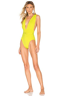 Plunge Ruched One Piece NICHOLAS $248 BEST SELLER