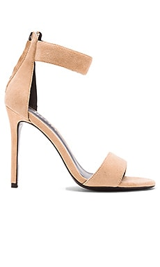 NICHOLAS Sofia Sandal Heel in Seashell Suede