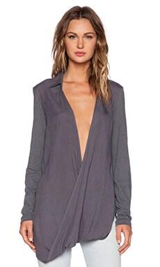 Nicholas K Swayz Hybrid Shirt in Charcoal