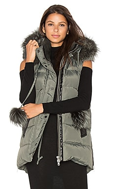 Kaia Vest with Asiatic Rabbit and Silver Fox Fur