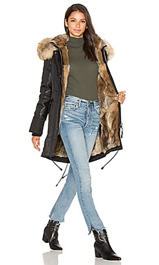 Chelsea Golden Fox and Asiatic Rabbit Fur Lined Parka
