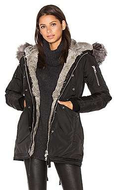 Melrose Asiatic Rabbit and Silver Fox Fur Jacket