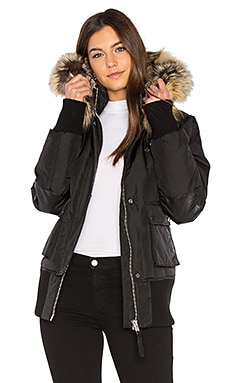 Fordham Bomber Down Jacket with Gold Fox and Asiatic Rabbit Fur