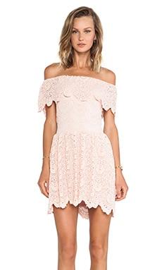 Nightcap Riviera Fit 'n Flare Dress in Soft Peach