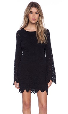 Nightcap Spanish Pricilla Dress in Black