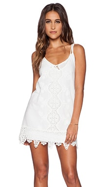 Nightcap Embroidered Tank Dress in White