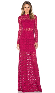 Nightcap Dixie Lace Maiden Maxi Dress in Sangria