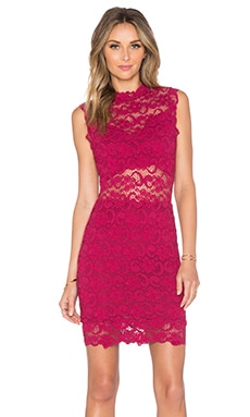 Nightcap Dixie Cutout Mini Dress in Sangria