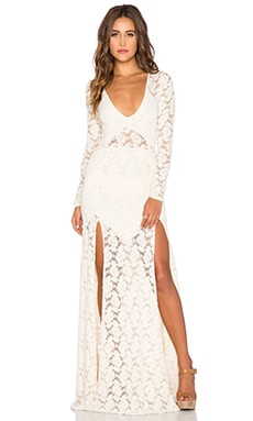 Nightcap Jirapa Lace Gown in Ivory