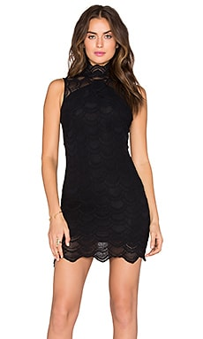 Nightcap Victorian Lace Sleeveless Dress in Black
