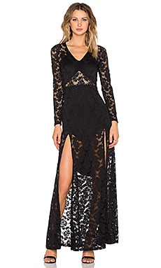 Nightcap Jirapa Lace Gown in Black