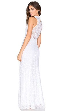 x REVOLVE Jungle Lace Gown in White