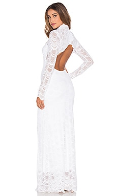 Nightcap Classic Victorian Lace Gown in Dove