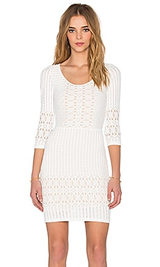 Nightcap Spiral Lace Scoop Dress in Ecru