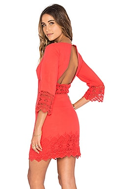 Tulum Cutout Dress in Guava