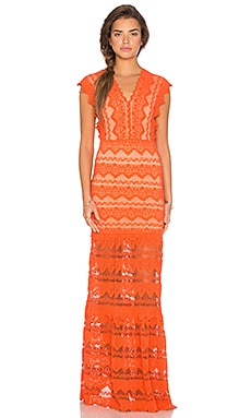 Antoinette Gown en Hot Orange