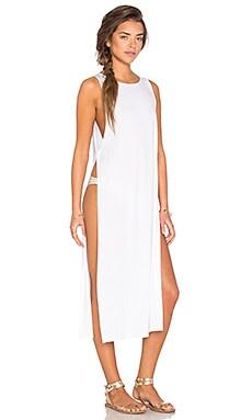 Nightcap Side Knot Maxi Dress in White