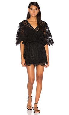 Seashell Siren Mini Dress in Black