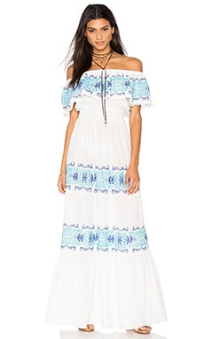 Greek Isle Maxi Dress en Blanc