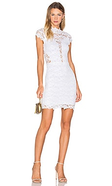 Nightcap Dixie Lace 16th District Mini Dress in Dove