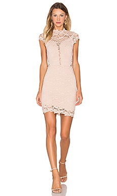 Dixie Lace 16th District Mini Dress in Nude