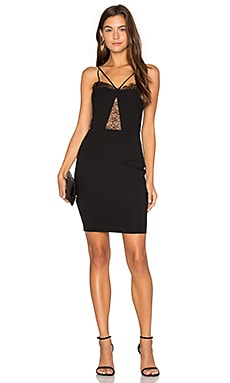 by Carisa Rene Delicate Lace Corset Dress in Black
