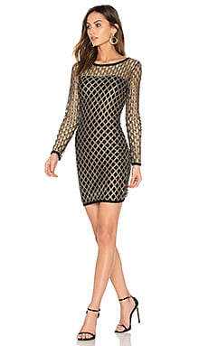 Pyrite Mini Dress in Gold