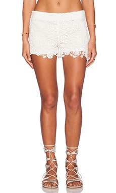 Nightcap Caribbean Crochet Short in White