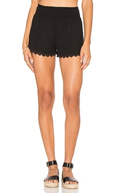 Island Gauze Short in Black