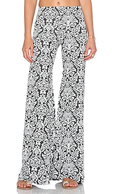 Nightcap Jacquard Lace Bell Bottom in Black & White