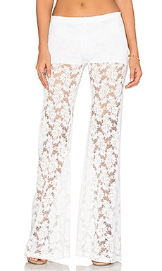 Nightcap Lace Bell Pant in White