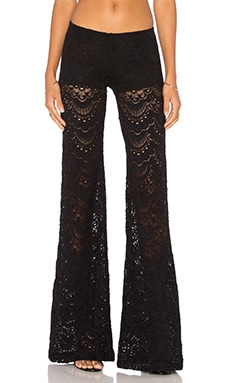 Nightcap Spanish Lace Bells Pant in Black