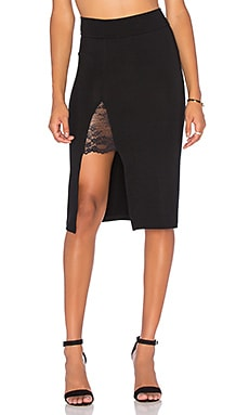 Garder Pencil Skirt in Black