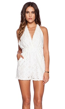 Nightcap Aztec Apron Romper in White