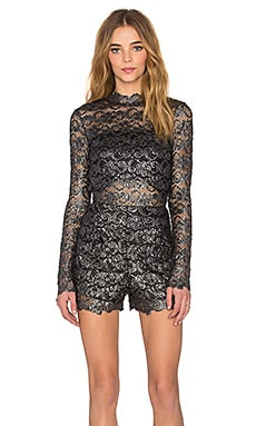 Metallic Dixie Lace Romper