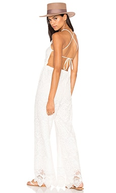 Coconut Palm Jumpsuit in White