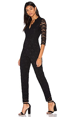 Nightcap Deep V Dixie Catsuit in Black