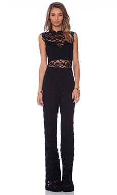 Nightcap Dixie Lace Catsuit in Black