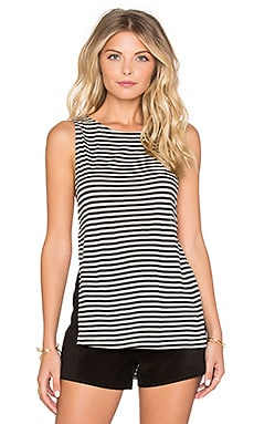 Nightcap Silk Stripe Side Knot Tank in Skinny Stripe