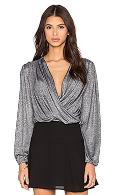 Nightcap Starlite Wrap Blouse in Silver