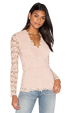 Dixie Deep V Top in Nude