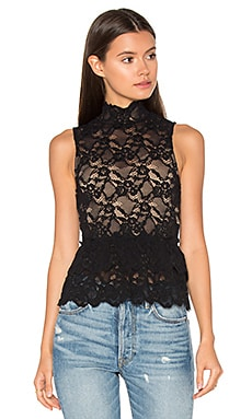 Peplum Cut Out Top in Black