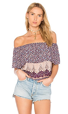 Topanga Top en Moonlight Print