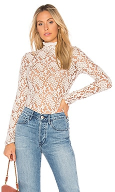 Sweater Lace Collar Top