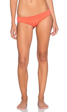 Nightcap Spiral Lace Brazilian Bottom in Hot Orange
