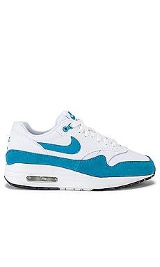 Women's Air Max 1 Sneaker in White & Blue Nike $110