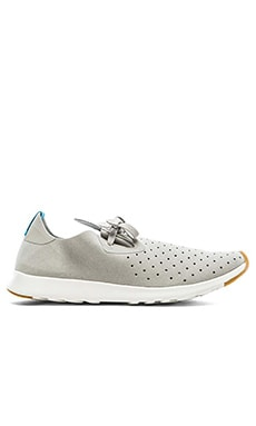 Native Apollo Moc en Gris Tourterelle Coquillage Blanc