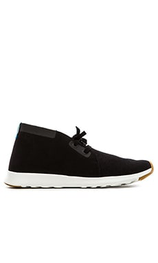Native Apollo Chukka in Jiffy Black Shell White